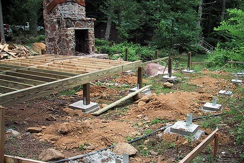 Cabin foundation plan pdf woodworking for How to build a post and pier foundation